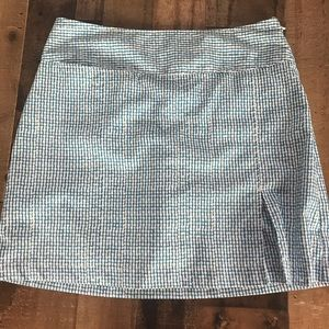 Izod XFG Aqua Blue Checked Golf Stretch Skort